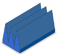Broadband Wedge Absorber